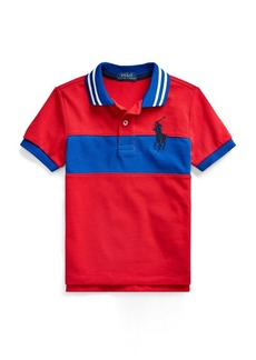 Ralph Lauren Embroidered Cotton Mesh Polo