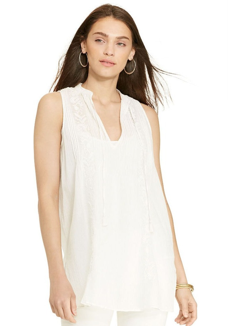 Ralph Lauren Embroidered Cotton Tunic