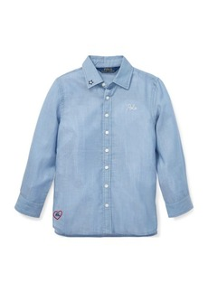 Ralph Lauren Embroidered Cotton Twill Shirt