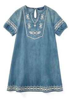 Ralph Lauren Embroidered Denim Dress