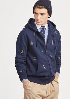 Ralph Lauren Embroidered Fleece Hoodie