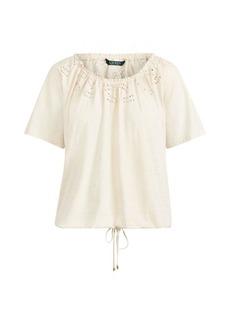 Ralph Lauren Embroidered Jersey Top