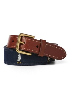 Ralph Lauren Embroidered Lighthouse Belt
