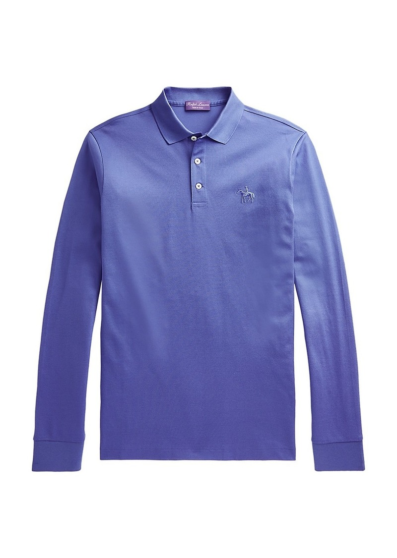 Ralph Lauren Embroidered Long-Sleeve Polo