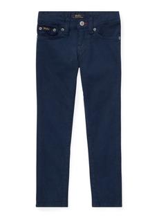 Ralph Lauren Embroidered Sateen Skinny Jean
