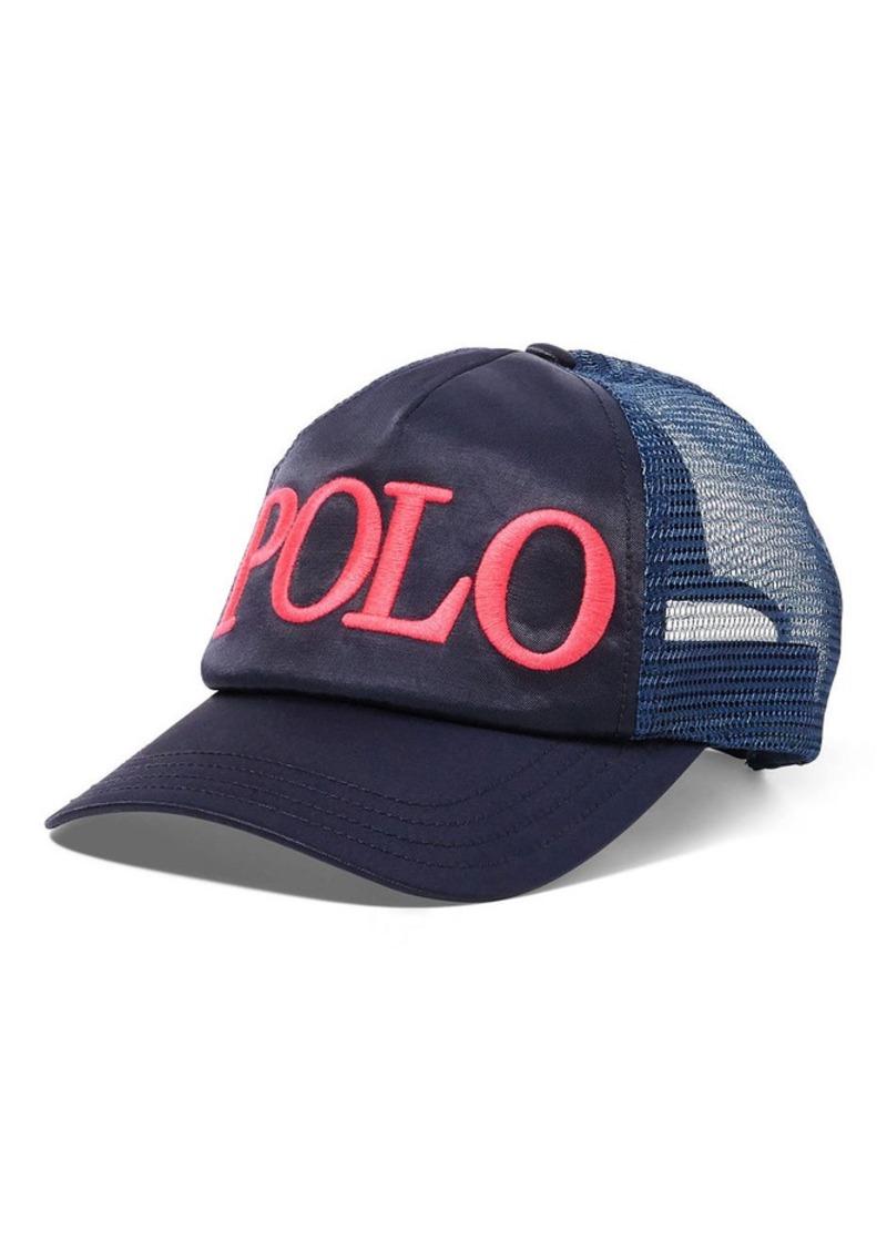 Ralph Lauren Embroidered Satin Trucker Hat