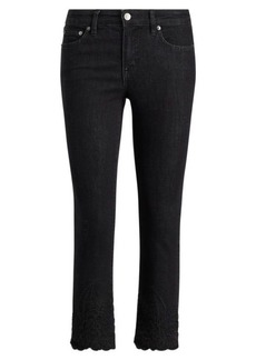 Ralph Lauren Embroidered Skinny Crop Jean