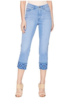 Ralph Lauren Embroidered Straight Crop Jeans