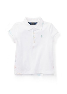 Ralph Lauren Embroidered Stretch Mesh Polo