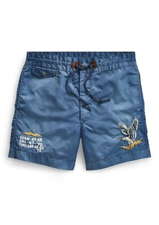 Ralph Lauren Embroidered Twill Short