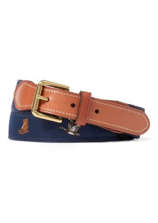 Ralph Lauren Embroidered Webbed Belt