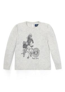 Ralph Lauren Embroidered Wool-Blend Sweater