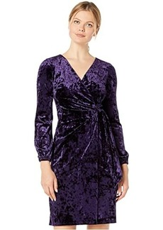 Ralph Lauren Empress Panne Velvet Joni Long Sleeve Day Dress