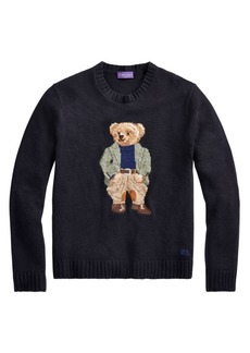 Ralph Lauren Equestrian Bear Cashmere, Wool & Silk-Blend Sweater