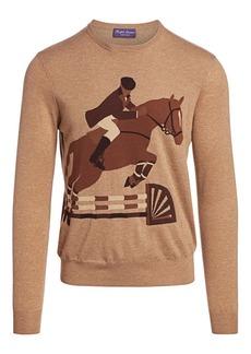 Ralph Lauren Equestrian Cashmere & Wool-Blend Sweater