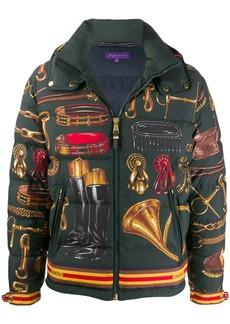 Ralph Lauren equestrian print down jacket