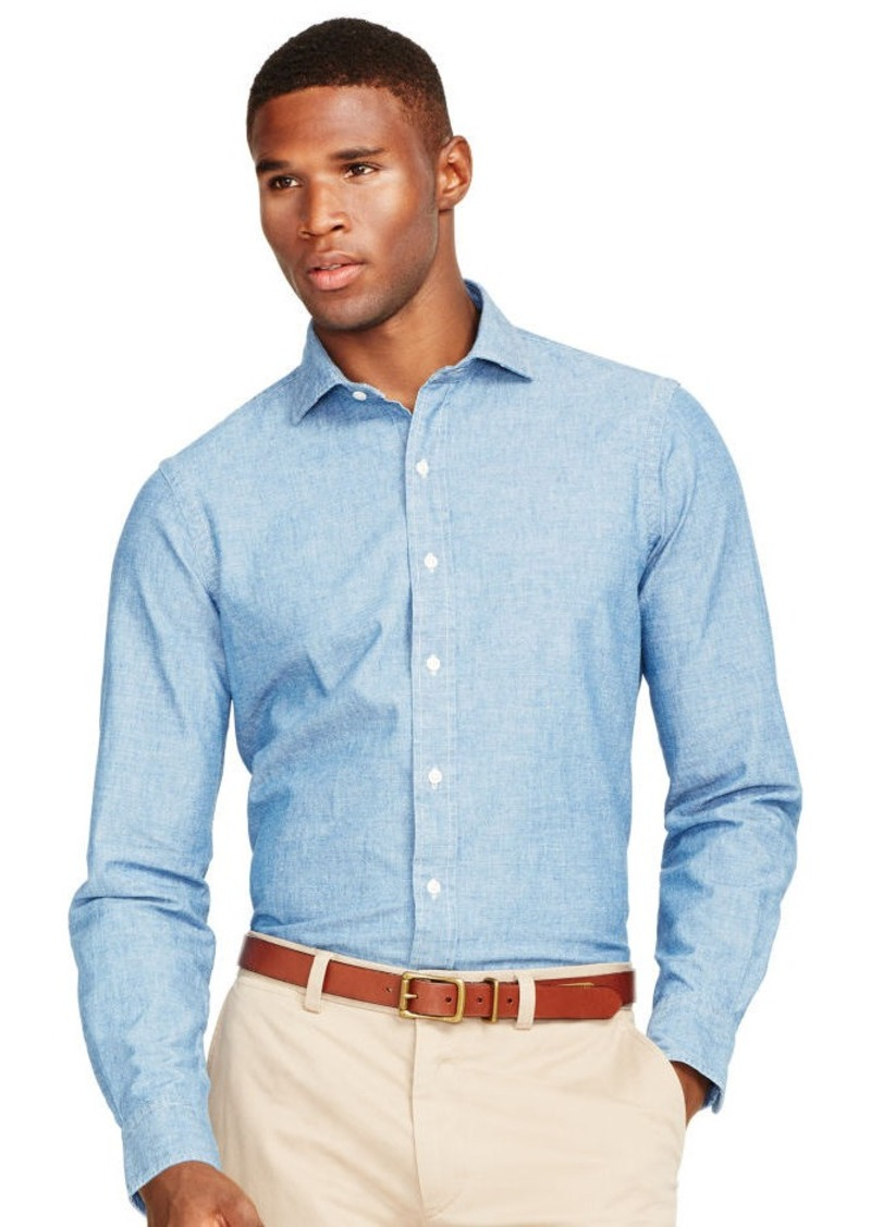 Ralph Lauren Indigo Cotton Chambray Shirt