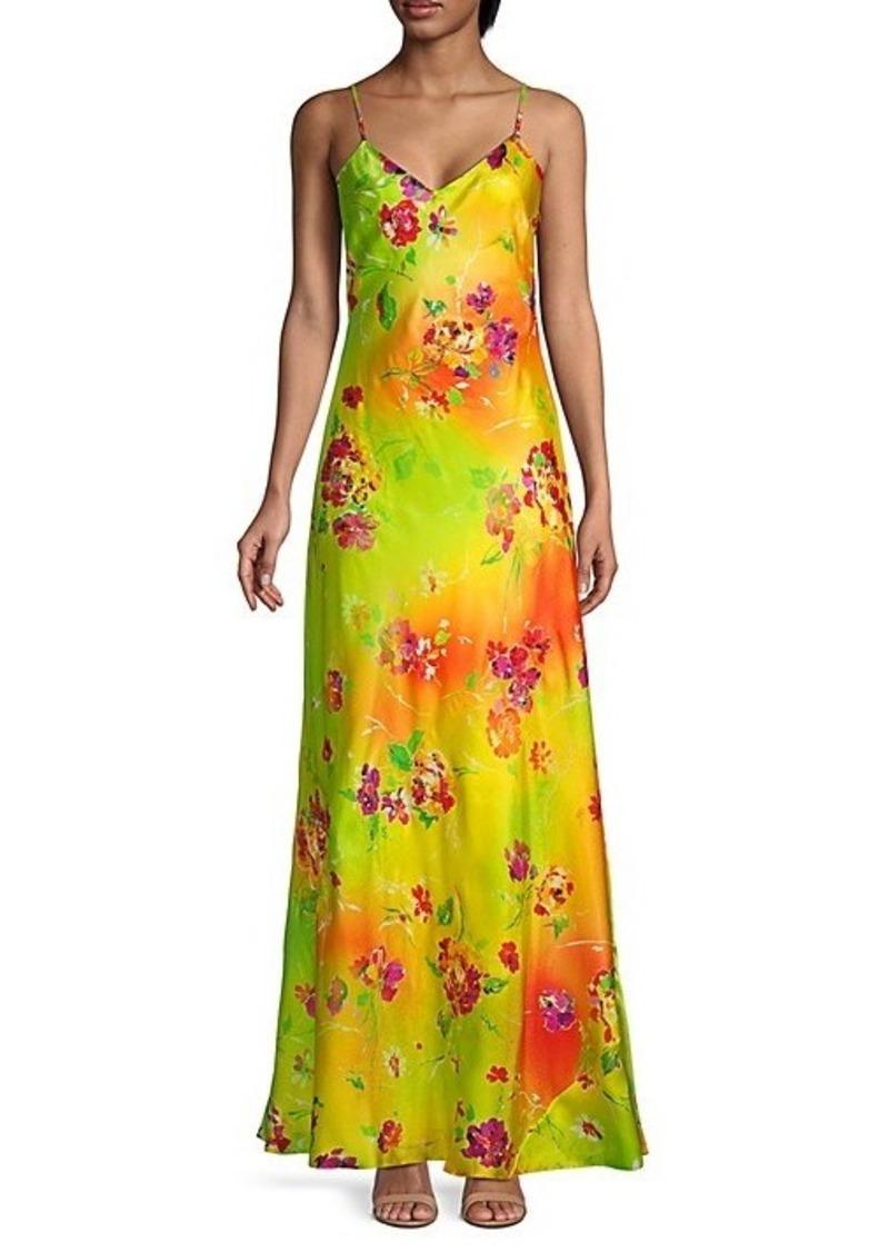 Ralph Lauren Evelyn Floral-Print Slip Gown