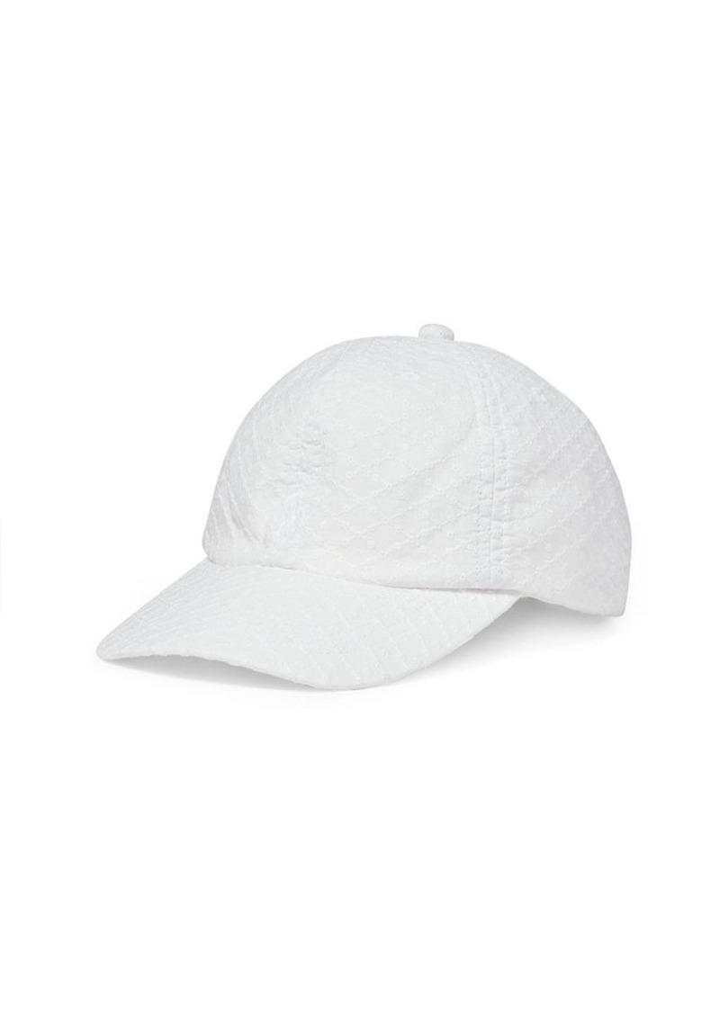 Ralph Lauren Eyelet Cotton Baseball Cap