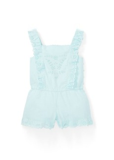 Ralph Lauren Eyelet Cotton Romper