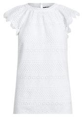 Ralph Lauren Eyelet Cotton Top