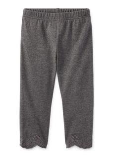 Ralph Lauren Eyelet-Cuff Capri Legging