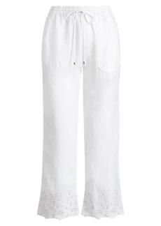 Ralph Lauren Eyelet-Cuff Wide-Leg Pant