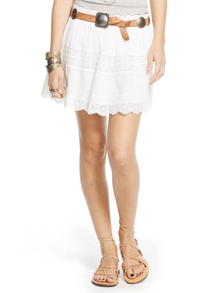 Ralph Lauren Eyelet-Embroidered Miniskirt