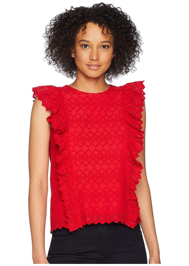 Ralph Lauren Eyelet Ruffled Cotton Top