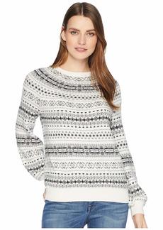 Ralph Lauren Fair Isle Cotton Blend Sweater