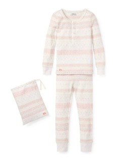 Ralph Lauren Fair Isle Cotton Pajama Set