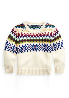 Ralph Lauren Fair Isle Cotton-Wool Sweater