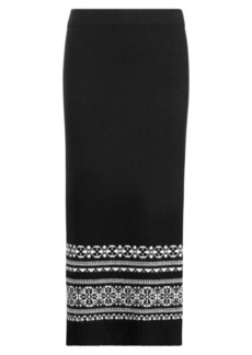 Ralph Lauren Fair Isle Wool-Blend Maxiskirt