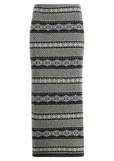 Fair Isle Wool-Cashmere Skirt