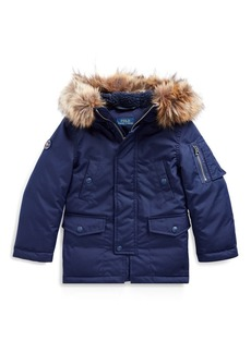 Ralph Lauren Faux Fur-Trim Down Parka