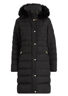 Ralph Lauren Faux Fur-Trim Hooded Down Coat