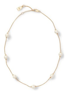 Ralph Lauren Faux-Pearl Chain Necklace