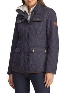 Ralph Lauren Faux Shearling Lined Quilted Safari Jacket