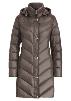 Ralph Lauren Faux Suede-Trim Down Jacket