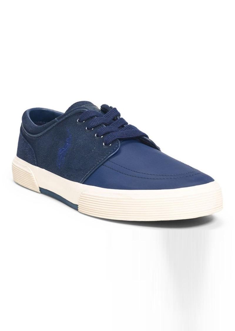 Ralph Lauren Faxon Suede Nylon Sneaker