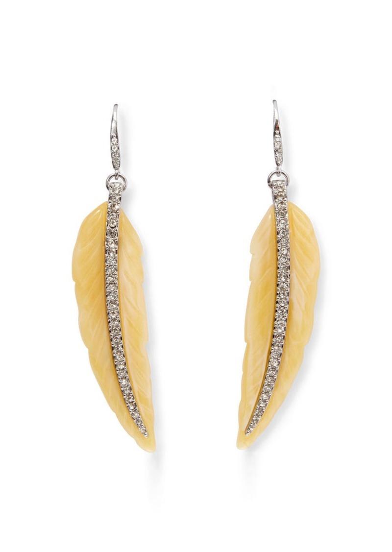 Ralph Lauren Feather-Shaped Earrings
