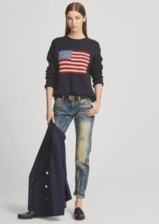 Ralph Lauren Flag Cashmere Crewneck Sweater