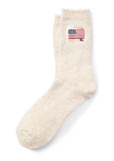 Ralph Lauren Flag Cotton-Blend Boot Socks