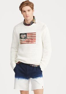 Ralph Lauren Flag Cotton Crewneck Sweater