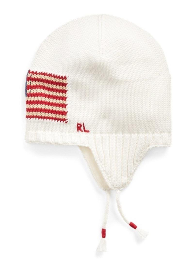 Ralph Lauren Flag Cotton Earflap Hat
