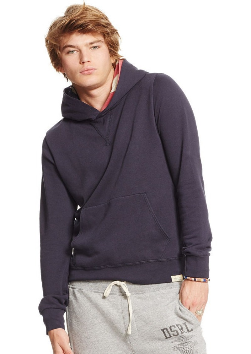 Ralph Lauren Flag-Hood Terry Sweatshirt