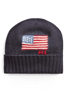 Ralph Lauren Flag Merino Wool-Blend Hat