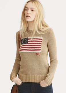 Ralph Lauren Flag Metallic Cotton Sweater