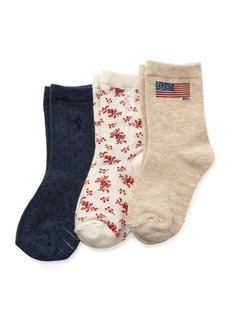Ralph Lauren Flag Sock 3-Pack