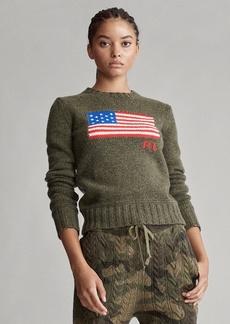 Ralph Lauren Flag Wool-Blend Sweater